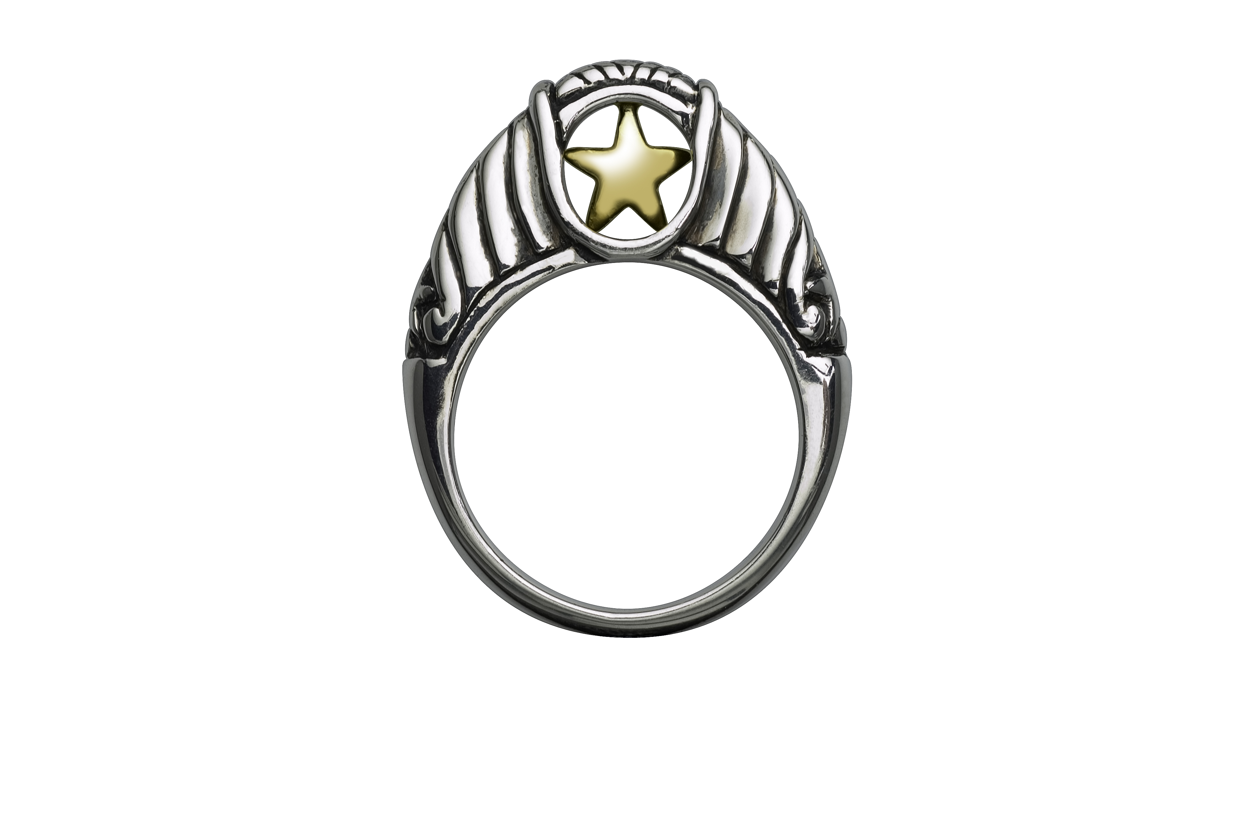 Texas Attitude - TwoTone_Shank_Ring.jpg - brand name designer jewelry in Comfort, Texas